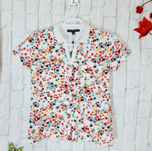 Tommy Hilfiger Floral Colorful Print Polo Shirt